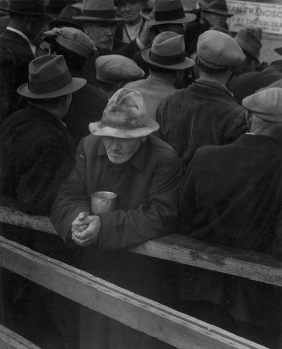 Dorothea Lange, The White Angel Bread Line, San Francisco, California (1933, National Archives)