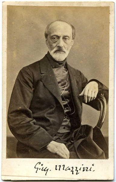 Portrait of Giuseppe Mazzini by Domenico Lama