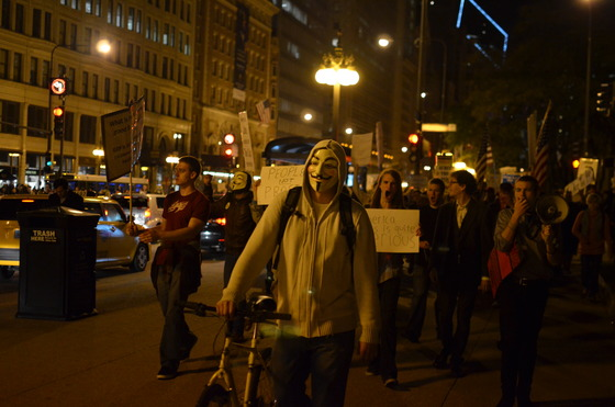 Occupy Chicago Protest March (2011). Flickr / Michael Kappel