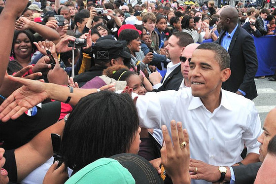 <i>Obama Rally, Greensboro, North Carolina</i>. September, 2008. Flickr