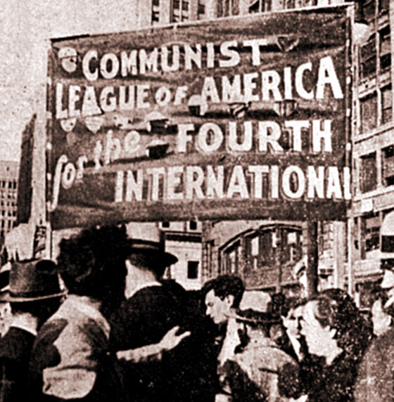 Banner for the Communist League of America. Published in The Militant, 1934. / Wikipedia