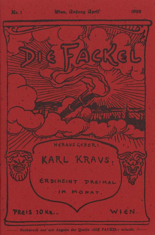 Die Fackel, volume 1 by Karl Kraus/Wikimedia Commons