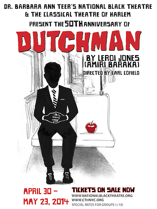Flyer from the National Black Theatre's 2014 production of <i>Dutchman</i>. nationalblacktheatre.org