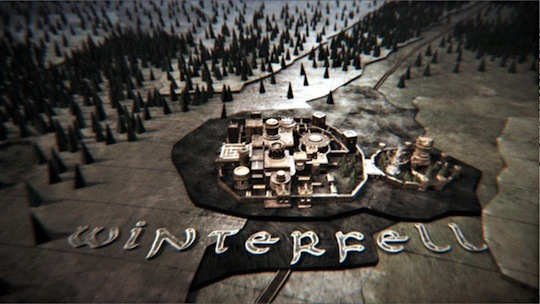 <i>Game of Thrones</i> opening credits.