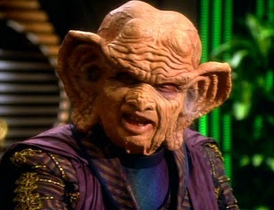 Wallace Shawn as Grand Nagus Zek in <i>Star Trek: Deep Space Nine</i> (1993)