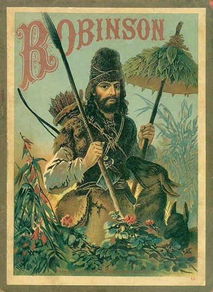 <i>Robinson Crusoe in an 1887 illustration</i>. WikiCommons