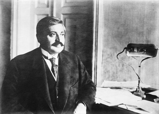 <i>Interior Minister Talaat Pasha, who ordered the arrests</i>. Library of Congress