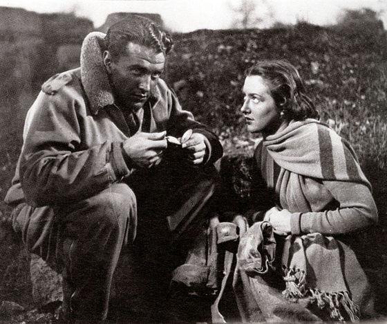 Massimo Girotti and Michela Belmonte appear in Roberto Rossellini's <i>Un pilota ritorna</i> (1942).