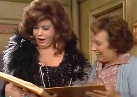 Lori Shannon as Beverly LaSalle and Jean Stapleton as Edith Bunker in <i>All in the Family</i>, episode 171