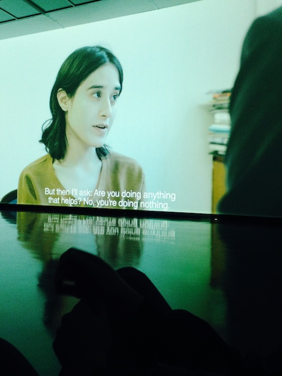 <i>Film Still from </i>Time Passes (2015). Photograph by author