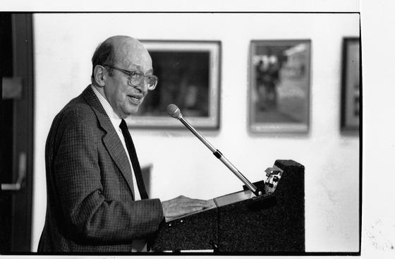 <em>Clement Greenberg, 1990.</em> Photograph courtesy of Pat Lipsky