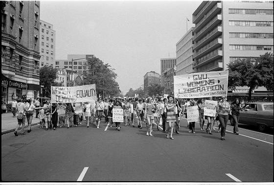 Women's Lib march in DC, 1970. Wikimedia Commons