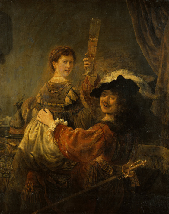 Rembrandt, <i>Rembrandt and Saskia in the parable of the Prodigal Son</i> (c. 1634). Oil on canvas