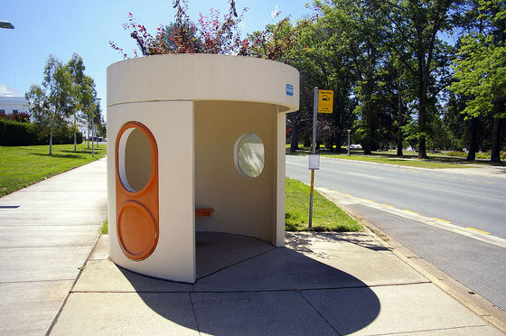<em>Canberra's iconic bus shelters.</em> Photograph by Bidgee / Creative Commons
