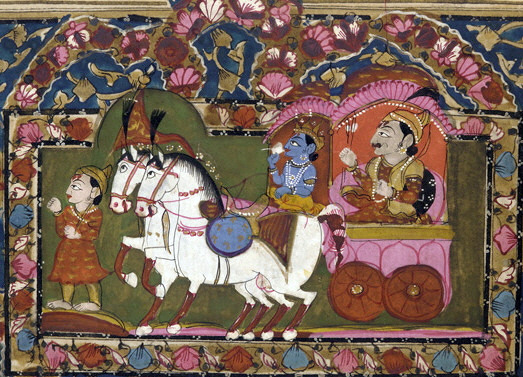 <i>Krishna and Arjun on the Chariot</i> (1819th Century). Smithsonian Freer Sackler Gallery / Flickr