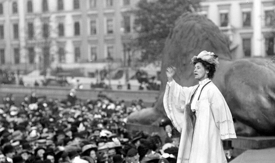 <em>Emmeline Pankhurst</em>. Photograph courtesy of BBC Radio 4 / Flickr.