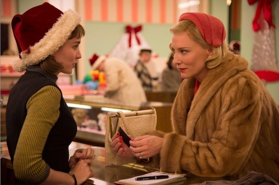 Rooney Mara and Cate Blanchett in <i>Carol</i>. Image courtesy the Weinstein Company