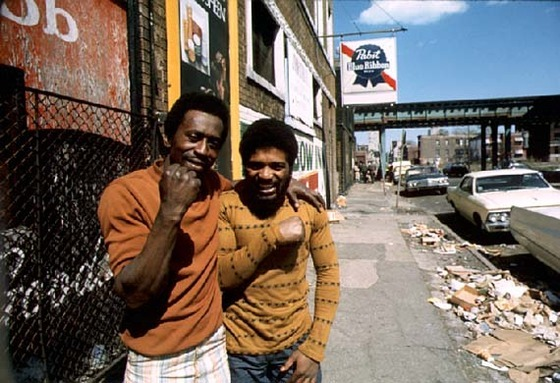 <i>Chicago ghetto on the South Side, May, 1974.</i> Photograph by John H. White/Wikimedia.