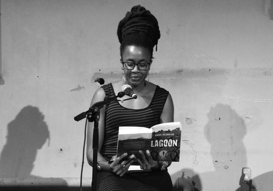 Nnedi Okorafor at a 2014 Scottish PEN event. Photograph by byronv2 / Flickr