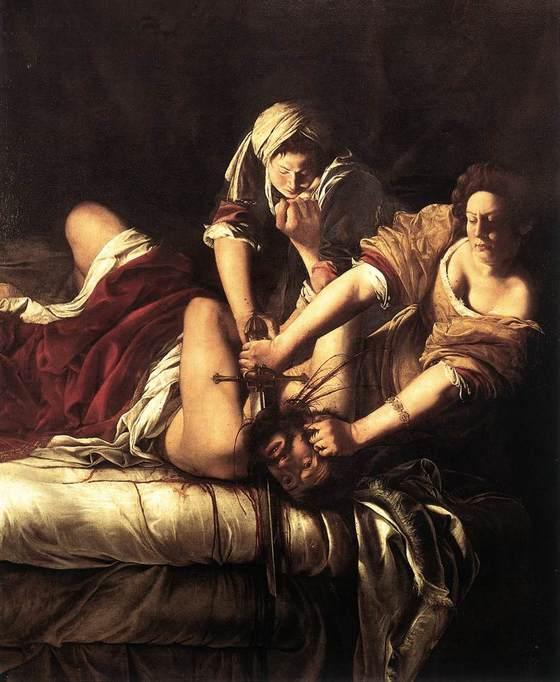 Artemisia Gentileschi, <i>Judith Beheading Holofernes</i> (164020). Wikimedia Commons