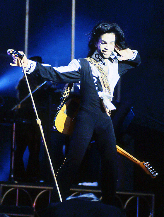 <i>Prince performing during his Nude Tour in 1990</i>. Photograph courtesy of jimieye/Flickr