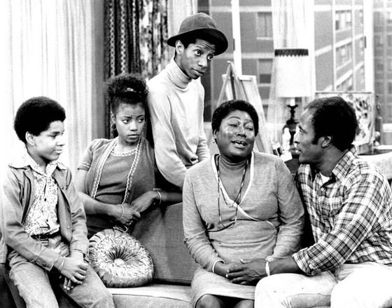 <i>The Evans family from the television program</i> Good Times. Photograph courtesy of CBS Television / Wikimedia
