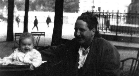 <i>Gertrude Stein with Jack Hemingway</i>. JFK Library