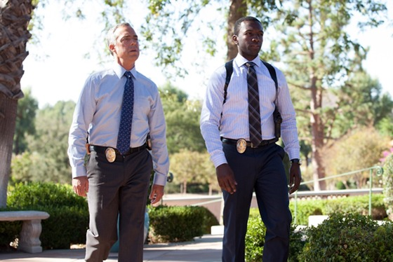 Titus Welliver as Harry Bosch and Jamie Hector as Jerry Edgar on Amazon's