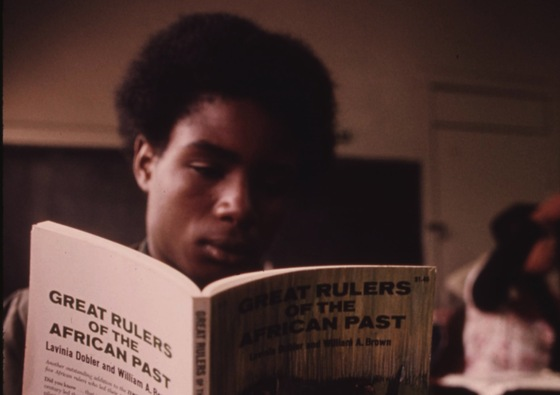 <i>Student in a Black Studies class on Chicago's West Side</i>. US National Archives / Flickr