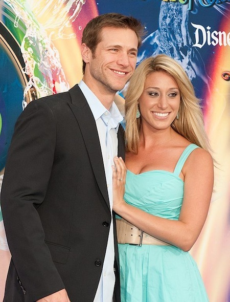 <i>The Bachelor</i>s Jake Pavelka and Vienna Girardi at World of Color Premiere at Disney California Adventure Park in June 2010. Wikimedia Commons