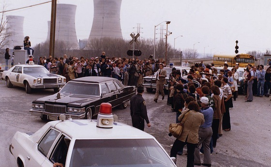 <i>President Jimmy Carter leaving Three Mile Island for Middletown, Pennsylvania, 04/01/1979</i>. President's Commission / Wikimedia