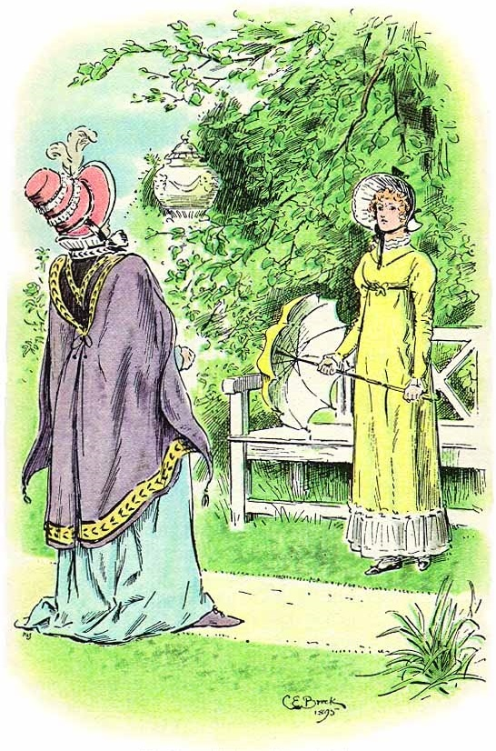 <i>Lady Catherine and Elisabeth</i>. Illustration by C. E. Brock for the 1895 edition of <i>Pride and Prejudice</i>
