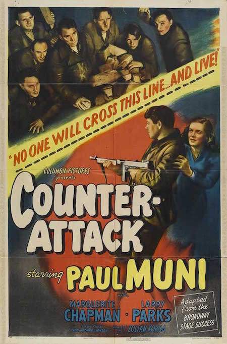 Promotional poster for <i>Counter-Attack</i> (1945), directed by Zoltan Korda