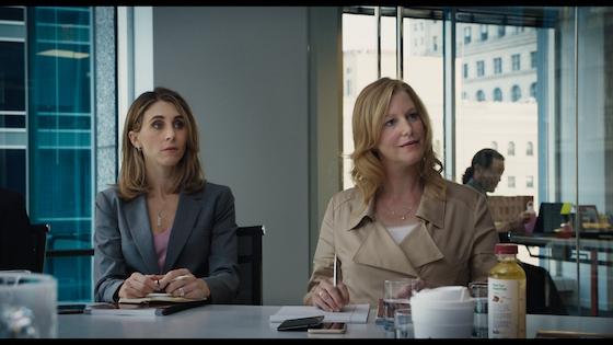 From left: Erin (Sarah Megan Thomas) and Naomi (Anna Gunn)