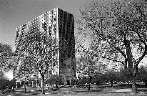 <i>Lafayette Park in downtown Detroit</i>. Photograph courtesy of Michigan State Historic Preservation Office / Flickr