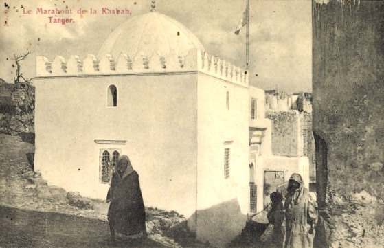 Fig. 2: <i>Le Marabout de la Kasbah, Tanger</i> (c. 1910). Photo offset lithograph postcard. Private collection. 8.7 x 13.7 cm