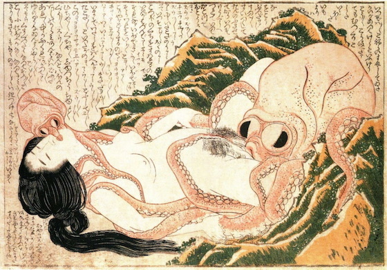 "<i>In </i>The Handmaiden<i>, a forgery of Hakusai's classic Japanese erotic print thematizes both orientalist voyeurism and and ""false "" male portrayals of female sexuality</i>. Photograph courtesy of Wikimedia Commons"