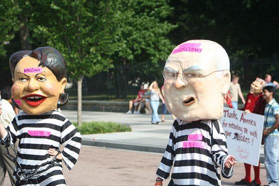 <i>Protestors of the George Bush administration</i>. Photograph courtesy of firebrandal / Flickr