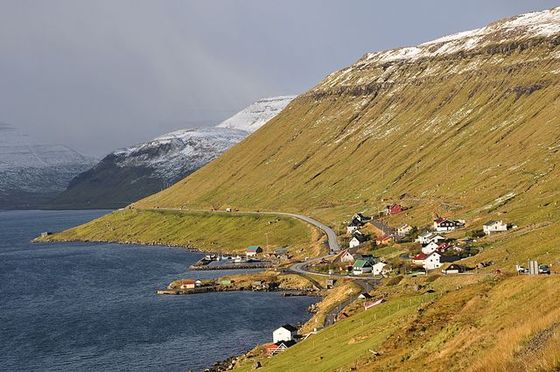 The village of Skipanes in Faroe Islands. Photo by Vincent van Zeijst / Wikimedia Commons