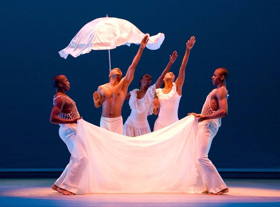 Members of the Alvin Ailey American Dance Theater perform <i>Revelations</i>. Photograph by Nan Melville