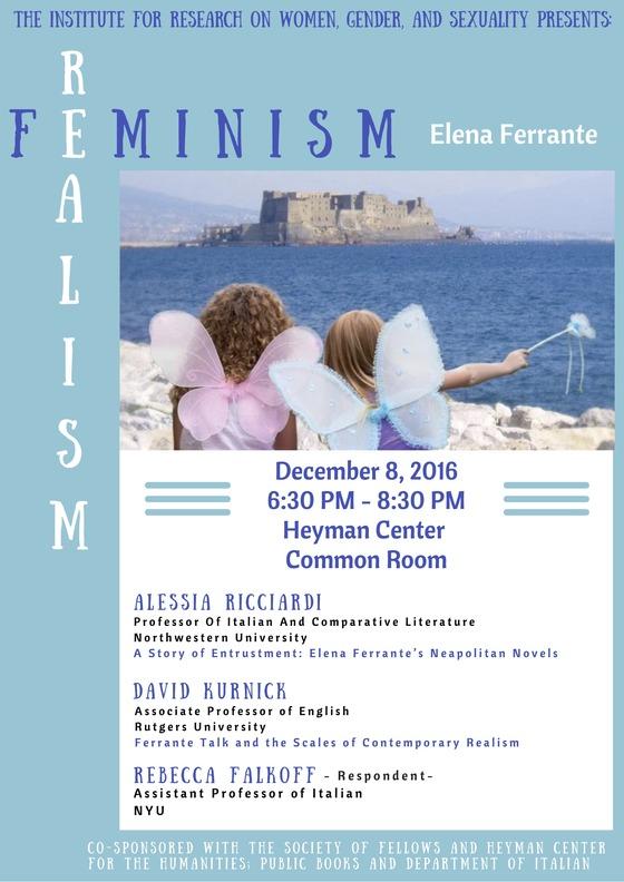 FEMINISM / REALISM: ELENA FERRANTE