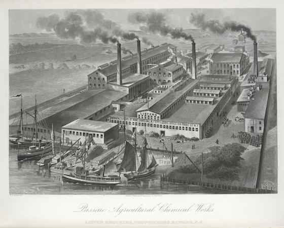 <i>The Passaic Agricultural Chemical Works. Lister Brothers, Proprietors, Newark, NJ</i> (1876). William Barclay Parsons Collection – New York Public Library Archives