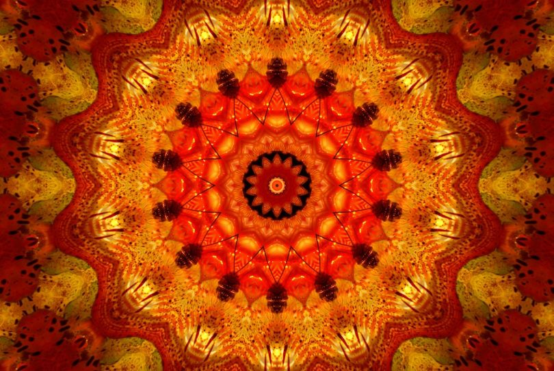 Valerie Everett Blown glass kaleidoscope