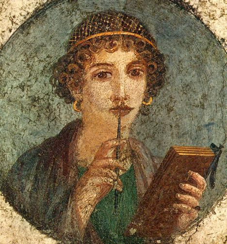 Woman with Wax Tablets and Stylus from Pompeii (c. 50 CE), National Archaeological Museum of Naples (inventory no. 9084). Wikimedia Commons