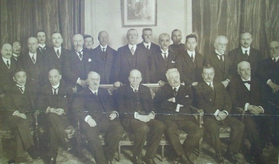 Members of the commission of the League of Nations, Plenary Session of the Preliminary Peace Conference, Paris, France 1919