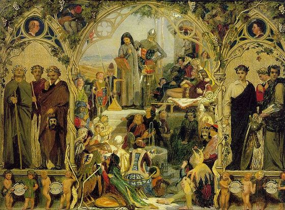 <i>The Seeds and Fruits of English Poetry</i> (18451851). Ford Madox Brown. Ashmolean Museum, Oxford / Wikimedia Commons