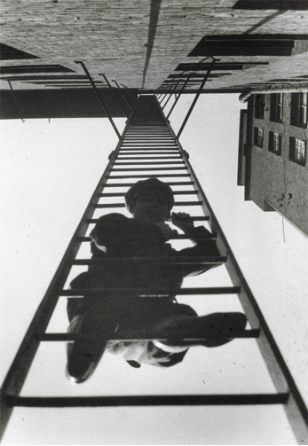 Alexander Rodchenkos <i>Fire Escape</i> (1925) can be taken as an avant-garde depiction of the ascension of the working-class.