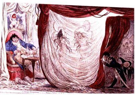 James Gillray, Paul Barras being entertained by Thérésa Tallien and Josephine Beauharnais, 1797