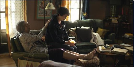 Jeffrey Tambor as Maura Pfefferman and Gaby Hoffman as Ali Pfefferman in <i>Transparent</i>