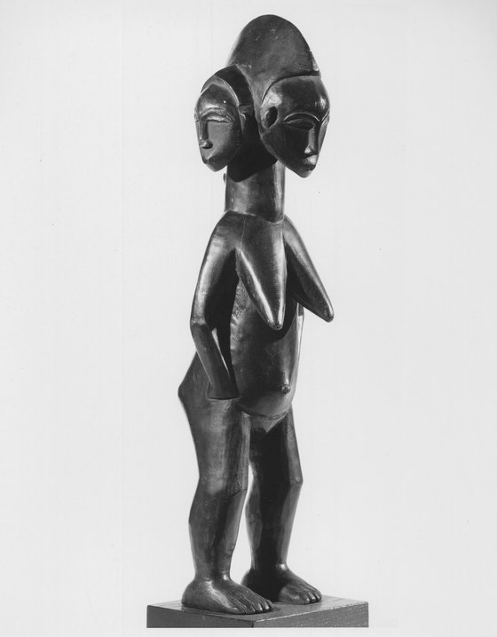 <i>Standing Female Figure With Three Faces</i>. Photograph by Robert B. Woodward Memorial Fund and Gift of Arturo and Paul Peralta-Ramos / Brooklyn Museum